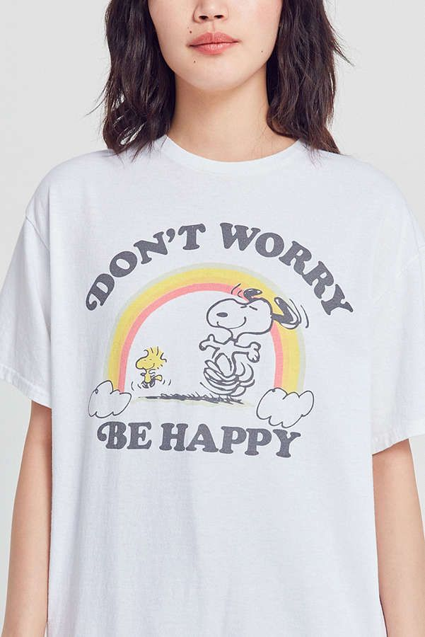 Slide View: 1: Junk Food Snoopy Don't Worry Tee UO