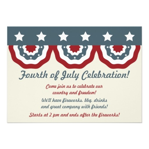 40 best 4th of july invitations images on pinterest invites 4th half flag classic fourth of july party invitations independence day holiday stopboris Images