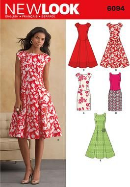 Simplicity 6094 Misses' Dresses -- a lovely dress to elongate your figure. Such a fun and cute dress for Spring! :D