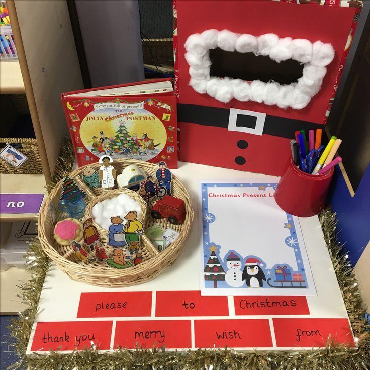Writing table - the jolly Christmas postman