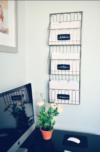 Jeito simples de organizar papéis e com tudo ao seu alcance!