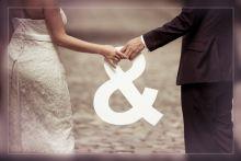 Originele huwelijksfoto - Witte letters van www.liefenleuk.be  Ook te gebruiken als gastenboek.