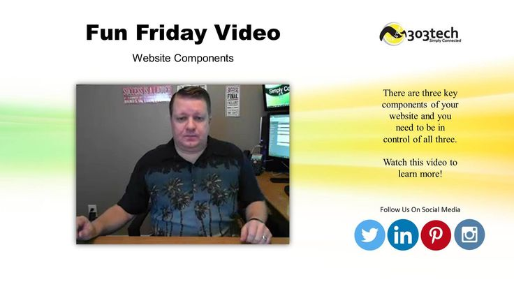 Check out our latest Fun Friday video all about the components of your website that you need to be in control of!
