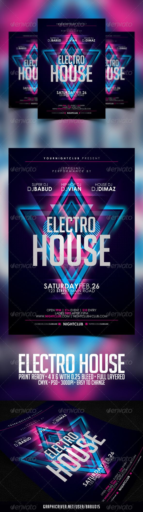 Electro House Flyer Template