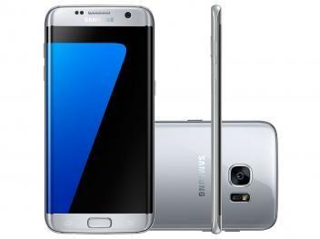 "Smartphone Samsung Galaxy S7 Edge 32GB Prata 4G - Câm. 12MP   Selfie 5MP Tela 5.5"" Quad HD Octa Core"
