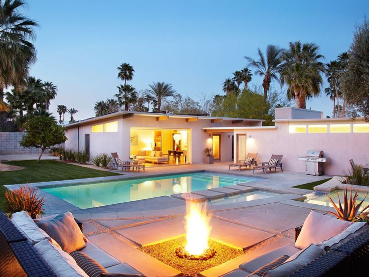 Tranquil patio area with seating fire pit and swimming pool tranquil patio area with seating fire pit and swimming pool