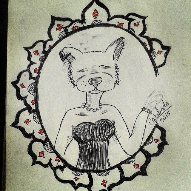 #dibujo #ilustración #mujer #animalyhombre