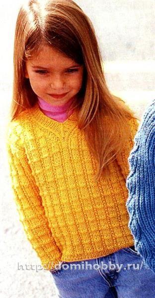 Связать 10 летней девочке свитер модель и схема