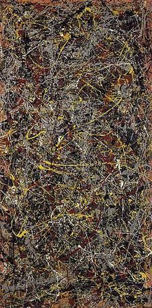 JACKSON POLLOCK (1912-1956): an influential American painter and a major figure in the ABSTRACT EXPRESSIONIST MOVEMENT. Known for his unique style of drip painting. Abstract expressionism is an American post–WWII art movement, developed in New York in the 1940s. It was the first specifically American movement to achieve international influence and put New York City at the center of the western art world, a role formerly filled by Paris.