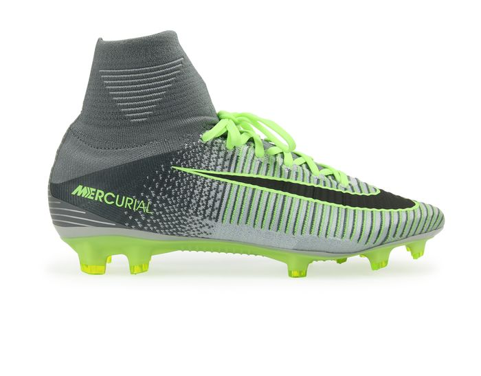Men's Nike Mercurial Superfly V (FG) Firm-Ground Football Boot combines a lightweight contoured nylon plate with a revolutionary stud configuration and integrated ribbing in the upper to create a boot