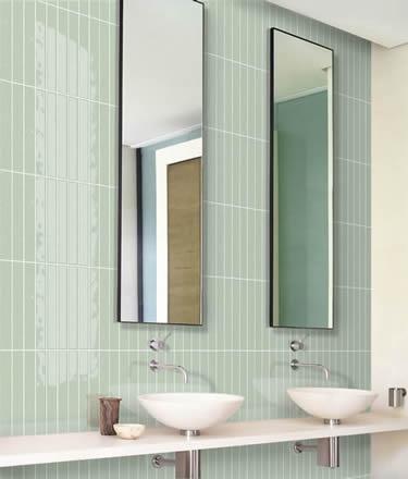 Bathroom Splashback With Matrix Tile Mint Format 13