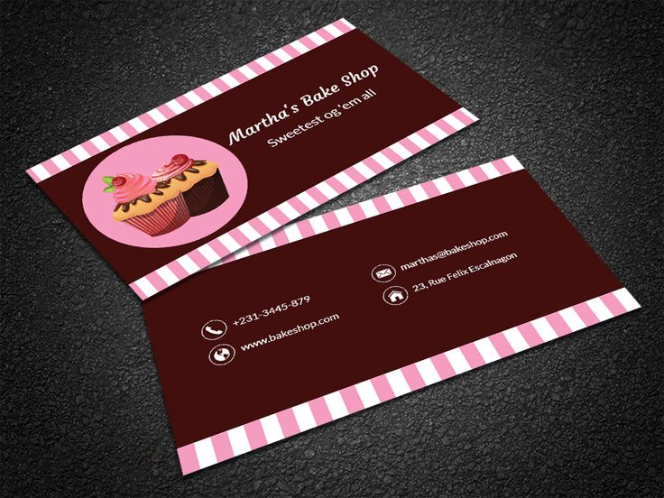 35 best free professional business card edit online and download edit this strawberry themed cupcake bakery business card template online and get a unique reheart Gallery