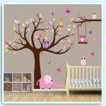 Výsledek obrázku pro motiv strom na výzdobu dětského pokoje