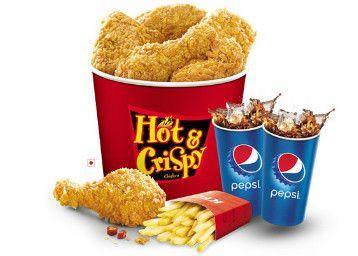 KFC Dussehra , Dasara Sale Offer : 6 pieces Chicken Bucket, Fries & Pepsi at 311 - Best Online Offer