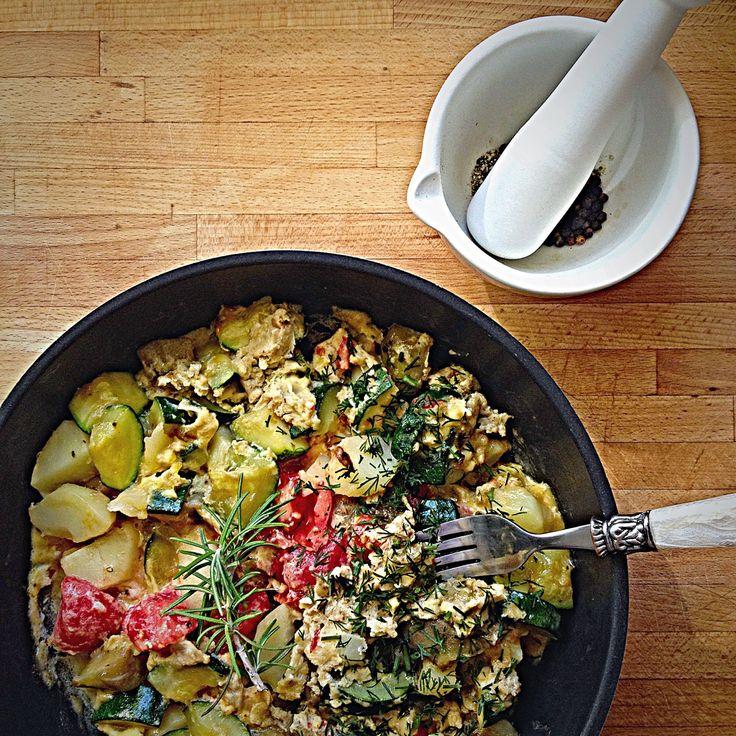 Prawie Perfekcyjna Pani Domu: Omlet z warzywami