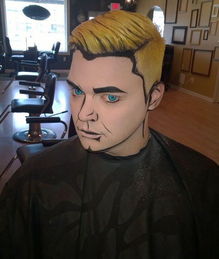 maquillage Halloween idées par les bandes dessinées