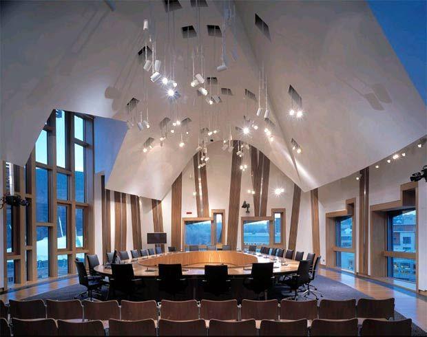 Meeting Room In The Scottish Parliament Building Edinburgh