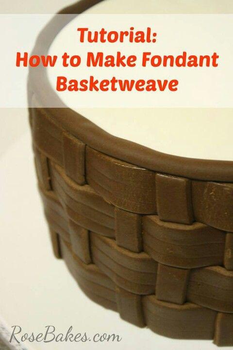 Fondant basket weave cake tutorial