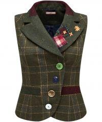 coats and jackets womens tweed jacket waistcoat upcycled