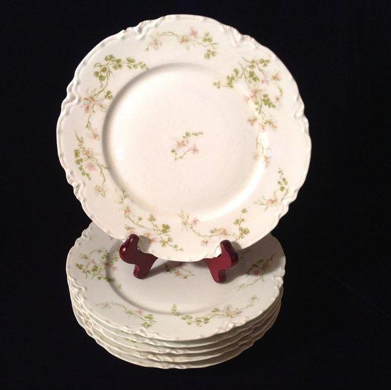 Antique French Haviland Limoges Floral set of 6 dinner plates - Elegant Entertaining - Birthday/Housewarming/Shower/Engagement/Wedding Gift