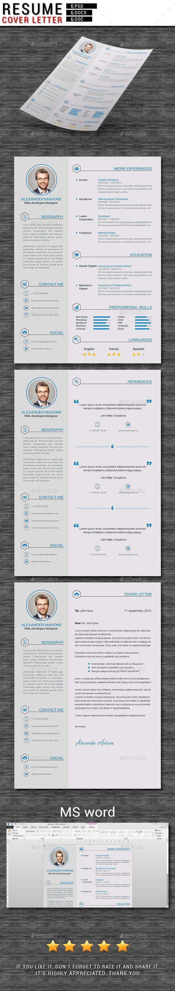 Resume / CV Template #design Download: http://graphicriver.net/item/resume-cv/11739591?ref=ksioks