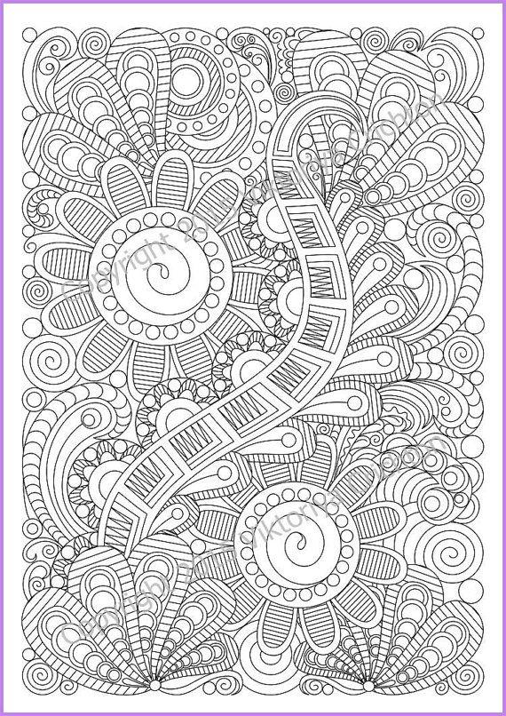 Abstract Doodle Zentangle Coloring pages colouring adult detailed advanced printable Kleuren voor volwassenen coloriage pour adulte anti-stress kleurplaat voor volwassenen Adult coloring page Zentangle Pattern zentangle by ZentangleHouse