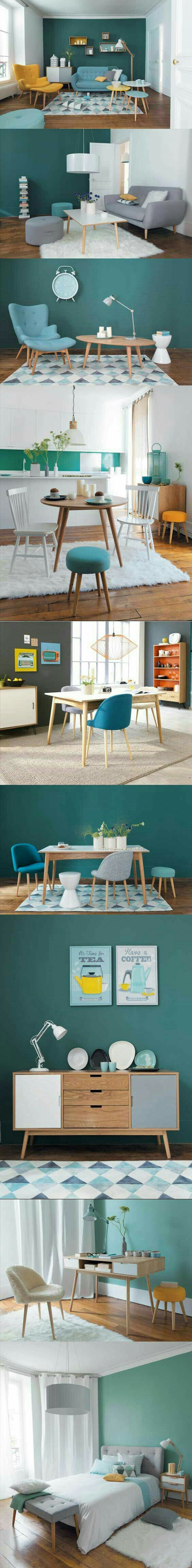Tons of gorgeous teal and turquoise home decor inspiration