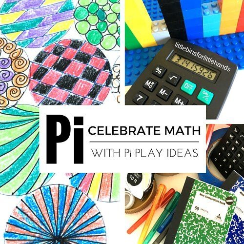 Do you know Pi? 3.14 and March 14th is Pi Day! These fun geometry STEAM activities are perfect for celebration math and Pi with young kids. Pi STEM play.
