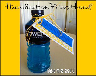 Little Miss Suzy Q-Handout on Priesthood Power.