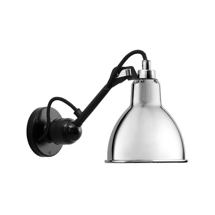 304SW, vägglampa formgiven av Bernard-Albin Gras för Lampe Gras. Lampan har fast montage och tänd via en tryckknapp på lampans bas.
