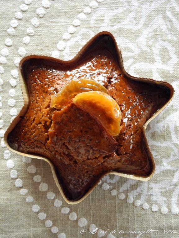 Pain d'épices moelleux à la châtaigne et à la gelée de clémentine {sans gluten, sans lactose, sans oeufs}