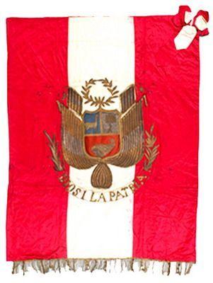 Estandarte peruano capturado en la guerra del Pacífico.