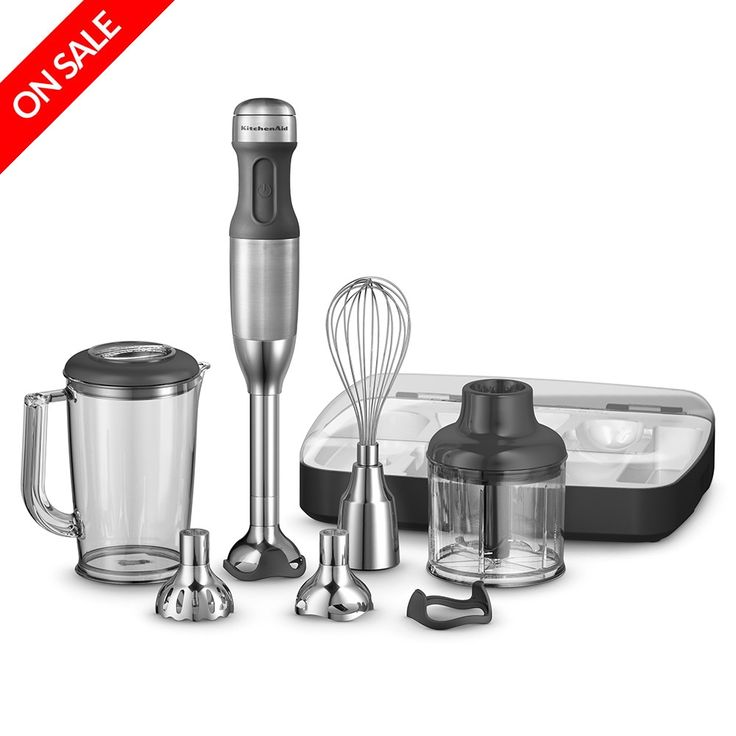 KitchenAid - Deluxe Hand Blender Contour Silver | Peter's of Kensington