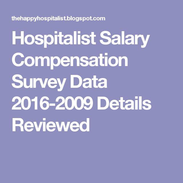 Hospitalist Salary Compensation Survey Data 2016-2009 Details