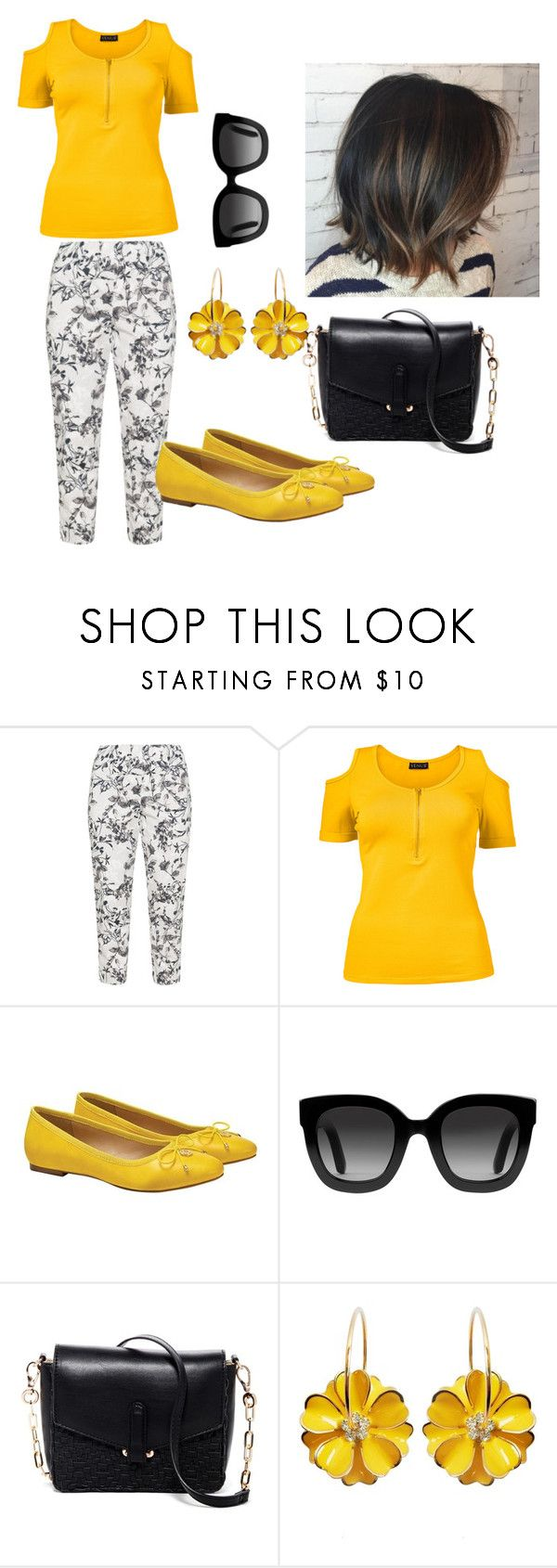 """Black & Yellow, but Casual"" by thespian-at-large ❤ liked on Polyvore featuring KJ Brand, Venus, Gucci, Deux Lux and plus size clothing"