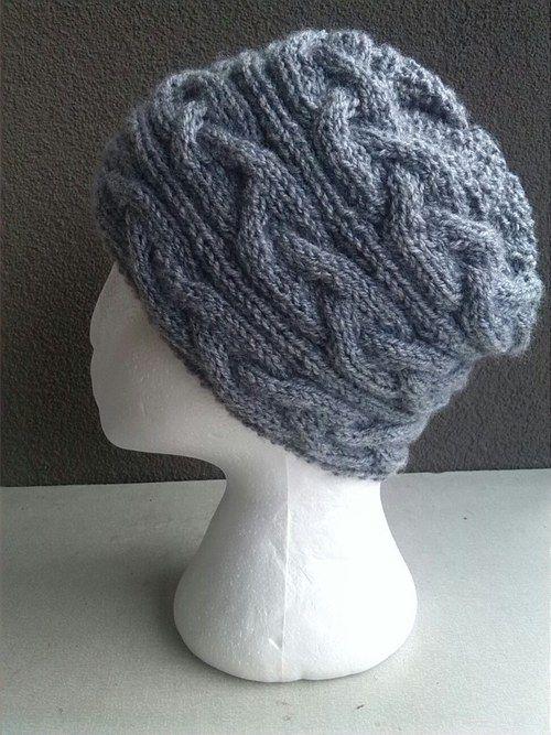 Pletená copánková čepice
