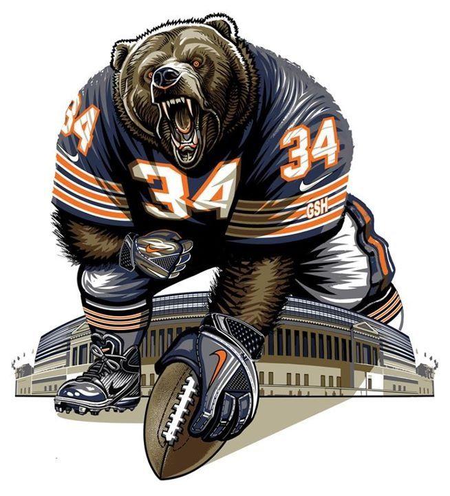 Chicago Bear! Bear Down! This would make a good tattoo