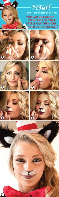 Cat in the Hat makeup is easier than you think! Follow these steps to complete your Cat in the Hat look this Halloween!