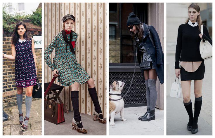Meias altas, como montar um look colegial mas fashion