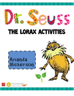 Lorax mini unit - for the K Teachers! http://pinterest.com/layrajane/kindergarten-ideas/#....Before and after the Movie Fieldtrip!