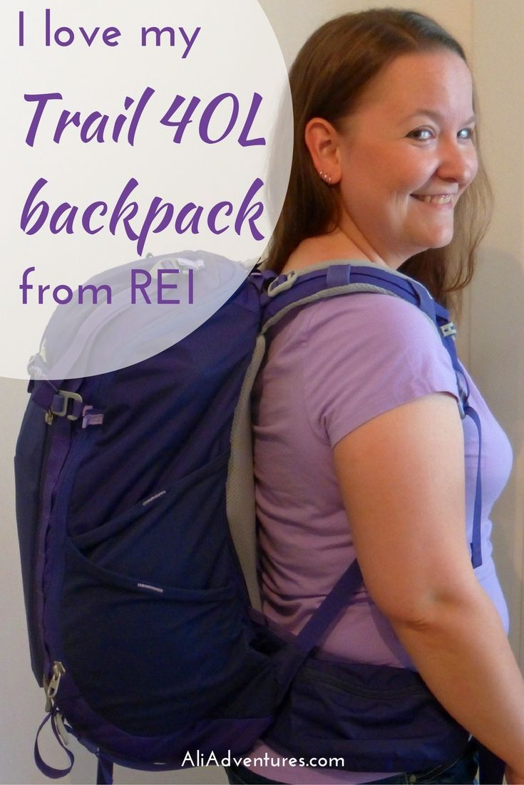I love my REI Trail 40L backpack! It's big enough to hold everything I want to pack and still small enough to take on the plane as carry-on. best carry-on size luggage | best carry-on size backpack | best luggage for carry-on travel