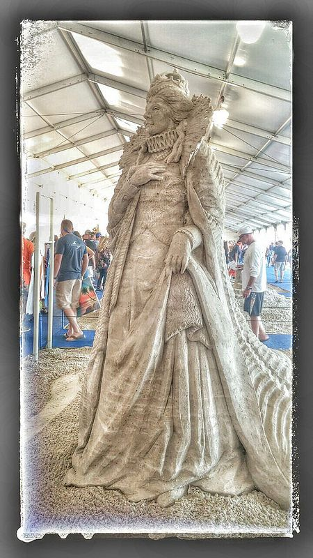 The Queen 2014 Neptune Sand Sculpting Festival in Virginia Beach, Virginia