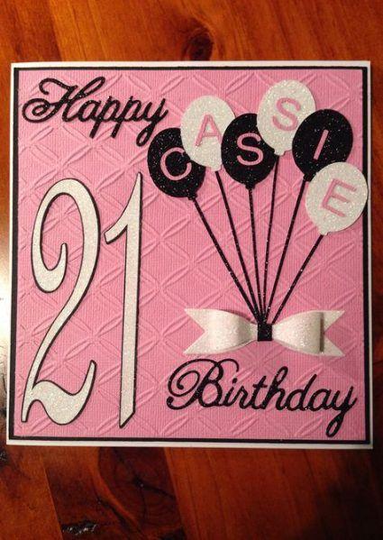 birthday card 18th girl 70 ideas  handmade birthday cards