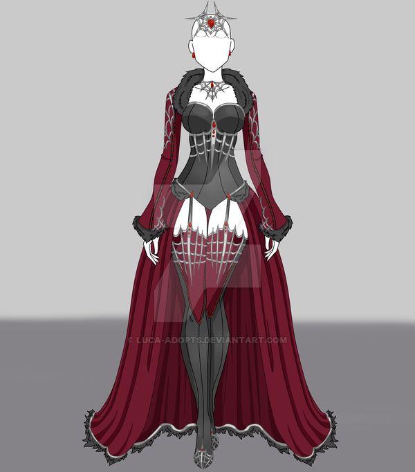 Dress Adopt #2 - SOLD by Luca-Adopts.deviantart.com on @DeviantArt