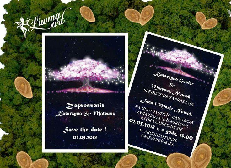 #wedding#invitation#weddingstyle#weddingcard#card#black#pink#white_napisy#tree#zaproszenia#ślubne#kartka#różowe_drzewo#białe_napisy ♡www.liwmaart.pl