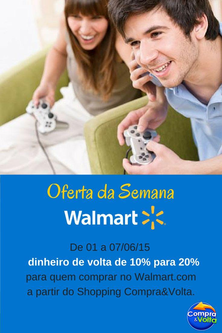 Aproveite a nossa oferta desta semana para comprar o presente de Dia dos Namorados! São 20% de dinheiro de volta no Walmart online comprando a partir do Shopping Compra&Volta. Confira mais detalhes e dicas de presentes no nosso blog! <3