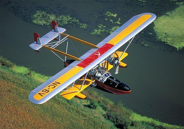 Vintage amphibious plane.