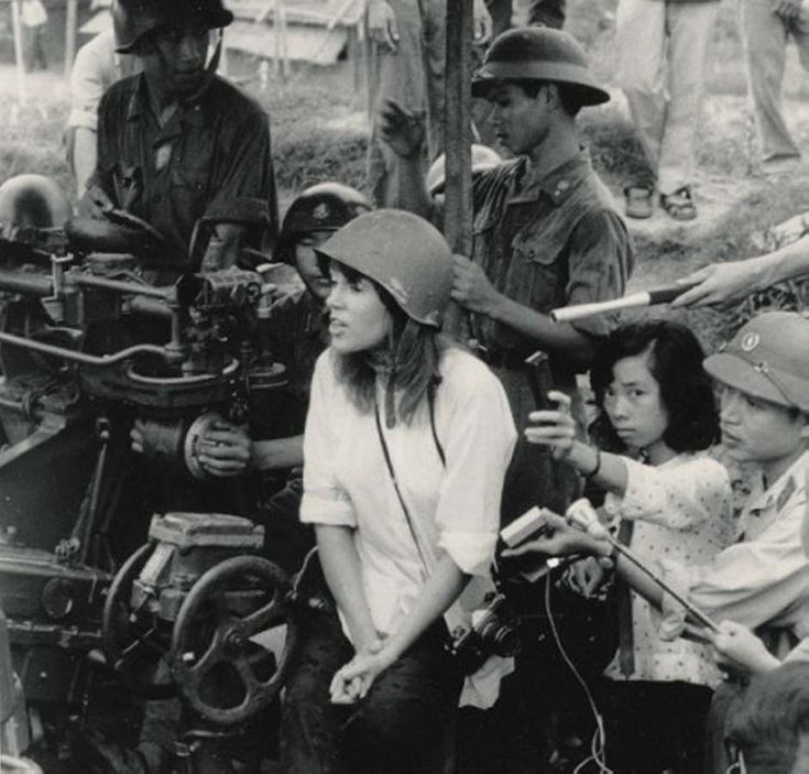 This woman!! She cost many american servicemen theirs lives! Actress Jane Fonda sitting on a North Vietnamese anti-aircraft gun during her 1972 visit to the country, as a protest against the Vietnam War. POW handed her pieces of paper with SS# on it, she gave the list to the Vietnamese, the soldiers were executed later that same day.