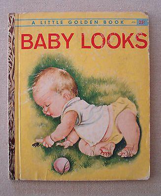 Baby Looks Esther Wilkin Eloise Wilkin Little Golden Book 'A' 1960 1st Edition