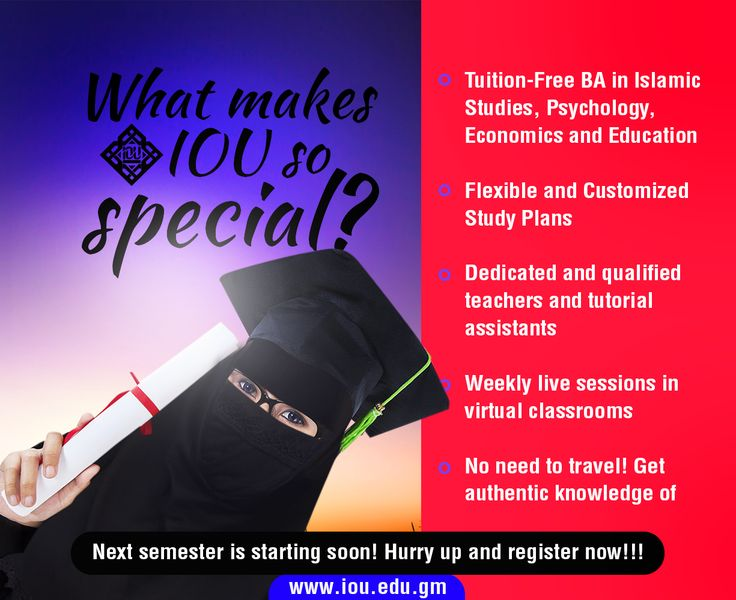 Get BA in Islamic Studies, Psychology, Education and Banking and Economics!